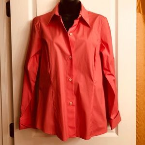 NWOT Liz Claiborne Button Down Shirt In Coral